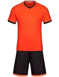 8d6acaac40615 Inlefen Men s Training Ropa Deportiva Running Training Traje de Manga Corta  Uniforme de fútbol