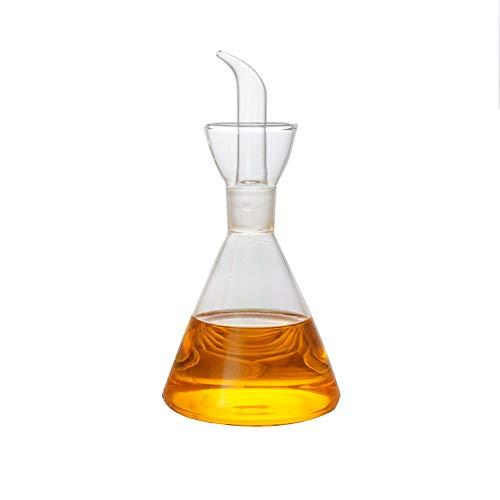 Olla de aceite de vidrio de cocina, botella de almacenamiento, botella de aceite, botella de condimento, aceite de oliva, botella de vino, vidrio de borosilicato de vidrio sin plomo-200ml