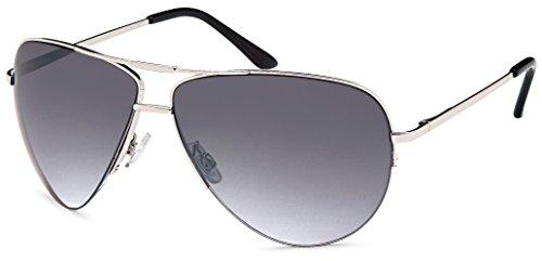Feinzwirn Pilotenbrille Milos, verspiegelt mit Flexbügeln + Brillenbeutel - Damen und Herren...
