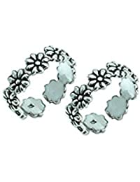 Style A Bit Sterling Silver Toe Ring Set For Women TOE017- O