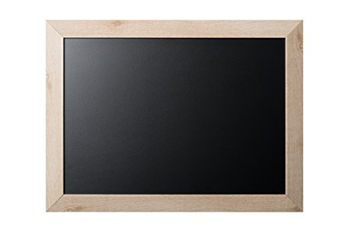 Bi-office lavagna nera per gesso kamashi bianco, cornice mdf pino bianco, 90 x 60 cm