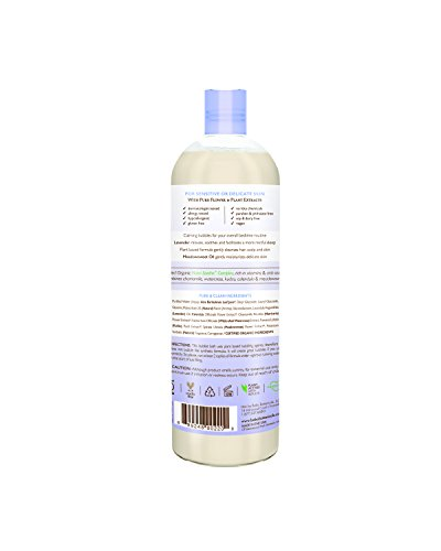 Babo Botanicals 3-In-1 Calming Shampoo, Bubble Bath & Wash with Relaxing Lavender Meadowsweet 450ml