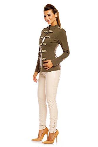 Jacke im uniformstil damen
