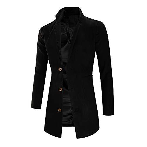 Odjoy-fan-maschio sezione media e lunga vestibilità slim cappotto peloso cappotto da uomo trench long outwear button overcoat coats giacche cappotti, felpa con maglia maglione invernale