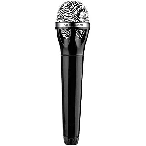 Excelvan Microfono 10M Wireless Bluetooth 2.1 EDR, Ricarica USB Microfono Portatile Light-in-weight Cavo Audio Supportati con il Recettore per Bar KTV Presentazione Discorso Party a Casa