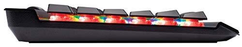 Corsair K70 RGB MK.2 Low Profile Mechanische Gaming Tastatur (Cherry MX Low Profile Red: Leichtgängig und Schnell, Multi-Color RGB Beleuchtung, QWERTZ) schwarz