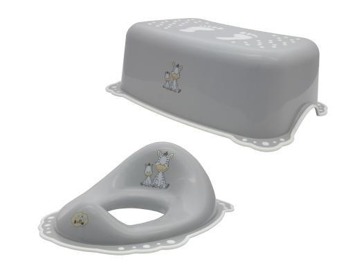 Hocker 3er Set forest beige Kindertopf Waschhandschuh Toilettentrainer Topf WC Aufsatz