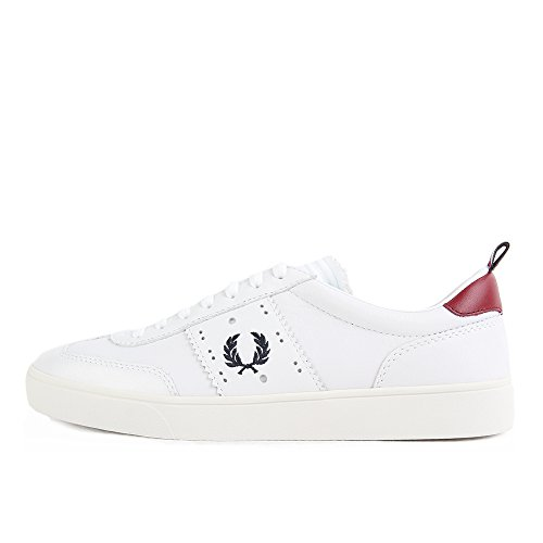 Fred Perry Umpire Leather Bradley Wiggins White Blanc