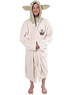 Fuman Star Wars Yoda Jedi Ears Fleece Bathrobe Hooded Robe Bademantel für Erwachsene