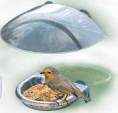 Wonderland PP/PVC Window Bird Feeder (Natural, WNG9076)