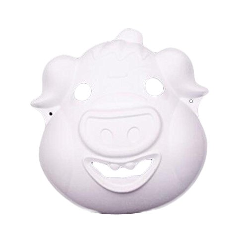 10 Stück weiße Maske DIY Kostüm Maske Schwein Maske Malerei Maske Papier leere Maske (Schwein Kostüme Diy)