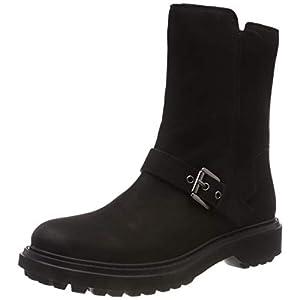 Geox Damen D ASHEELY D Biker Boots, Schwarz (Black C9999), 40 EU 6908d9a98e