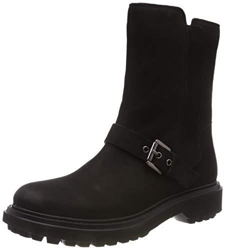 Geox Damen D ASHEELY D Biker Boots, Schwarz (Black C9999), 39 EU