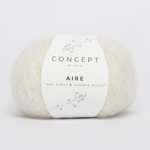 Katia Aire - Farbe: Crudo (100) - 25 g / ca. 150 m Wolle