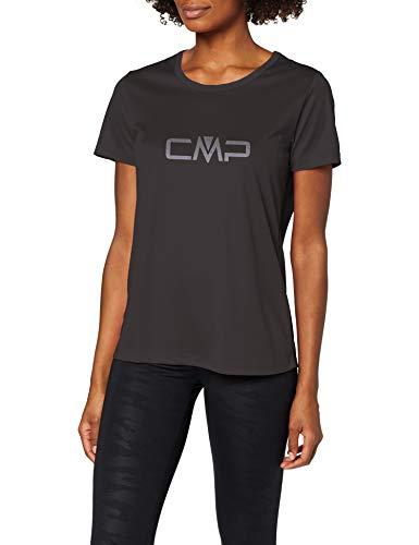 CMP Damen T-Shirt, Nero, 48