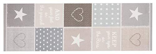 Küchenläufer Küchenteppich Küchen Matten Flur Läufer Teppich Deko waschbar robust modern Größe 140x45 cm 12 verschiedene Motive-Design und Farben (Patchwork - Pastel)