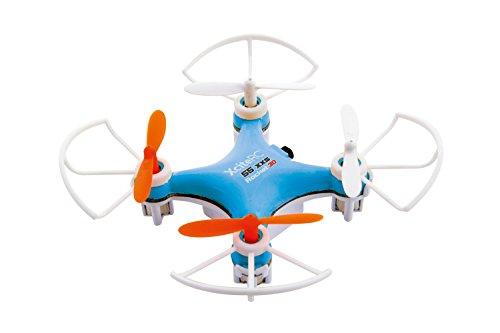 XciteRC 15007100 - Ferngesteuerter RC Quadrocopter Rocket 55XXS 3D 4-Kanal RTF Drohne, blau