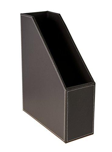 Faux Leder Magazin (Osco BPUMR1 Luxus Faux Leder, Schreibtischzubehör und Ablage, braun)