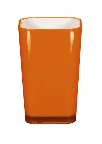 Orange Zahnbürstenhalter (Kleine Wolke 5061488852 Easy Zahnputzbecher, orange)
