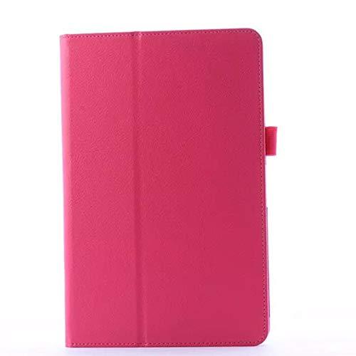 GOGODOG LG G PAD 10.1 Hülle Ultra dünn Stoßstange Ganzkörper Schutz Leder 10.1 Zoll Halterung Schutzhülle Tablet Halter Shell Protector LG V700 (Rose Rot)
