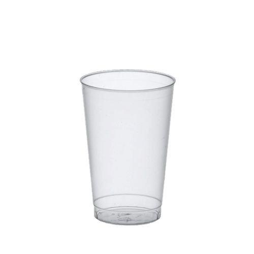 Gastro-Bedarf-Gutheil 50 Trinkbecher Polystyrol 0.3 L, Ø 7.8 x 11.8 cm, transluzent unzerbrechlich
