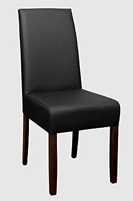 """VARILANDO 2er-Set Gastronomie-geeigneter PU-Leder-Stuhl """"Nathan"""" in 4 Farbvarianten Ess-Stuhl Gastronomie-Möbel von Unbekannt auf Gartenmöbel von Du und Dein Garten"""