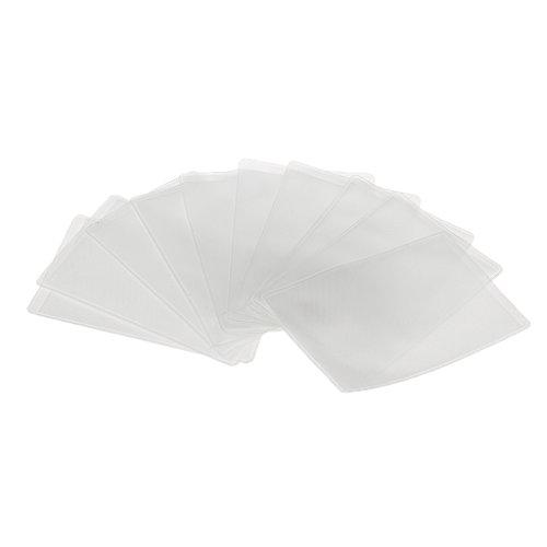 10x Fundas Protectores Tarjeta Plástico Claro