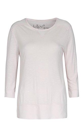 bloom Shirt mit 3/4-Ärmeln und Webeinsätzen, Rosa Rosa