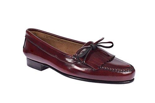 G&P cobbler - Craftsman Mocassin Frange et Tie Bourdeaux