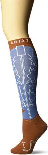 Western Boot Socken (ARIAT Damen Women's Over The Calf Boot Novelty Legere Socken, braun, Einheitsgröße)