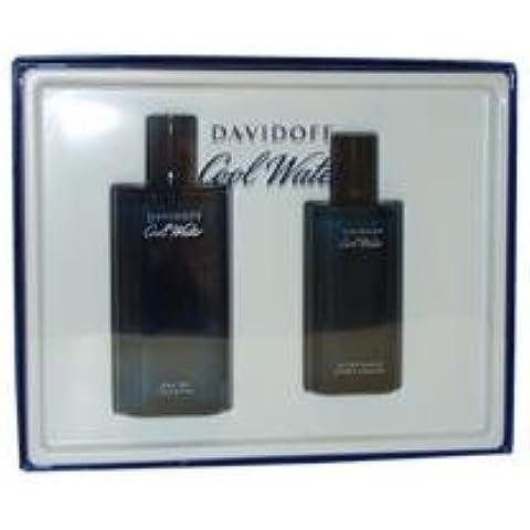 Zino Davidoff Cool Water for Men Gift Set (Eau De Toilette Spray Plus Aftershave Splash) by Davidoff