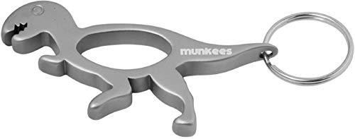 munkees Schlüsselanhänger Flaschenöffner 2in1 Dinosaurier T-Rex Figur Tier-Motiv, Silber, 34811 -