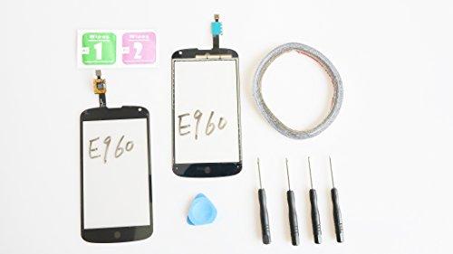 JRLinco Para LG Google Nexus 4 E960 Pantalla de Cristal Táctil,(Sin LCD)  Pieza de Recambio touchscreen glass display Para LG E960 Negro +
