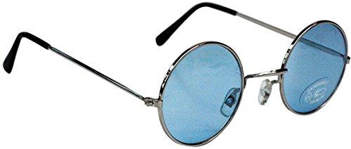 Party Pro 871120Blau Hippie-Brille, Mehrfarbig