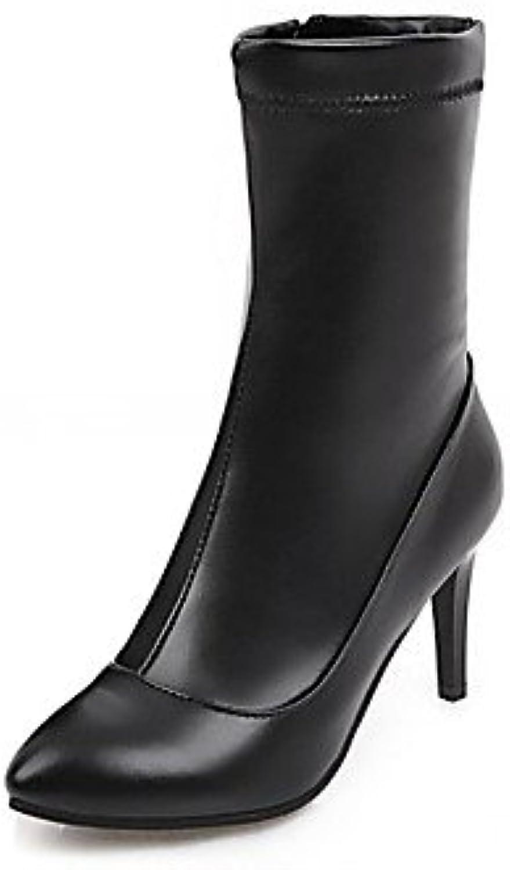 desy de mujer botas ergonómico innovador Botas Primavera Invierno Piel Sintética Casual a lunares a Stiletto blanco... -
