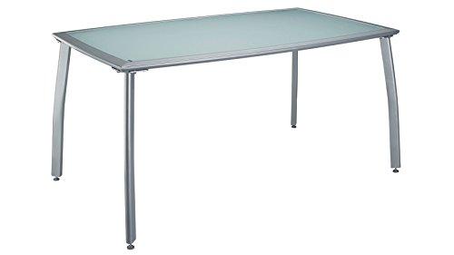 baumarkt direkt Gartentisch Lima, Aluminium, 150x90 cm, silber 90 cm, 150 cm, silber