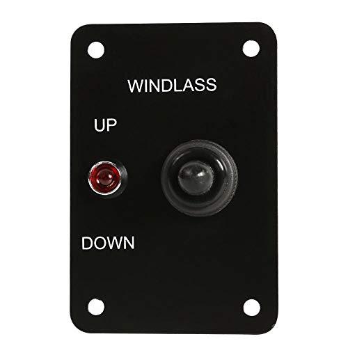 12V 15A Ankerwinde UP/DOWN Kippschalter Bedienfeld mit roter Anzeige -