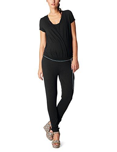 Noppies Damen Umstands Overalls Jumpsuit Ss Chloe 70212, Schwarz (Black C270), 42 (Herstellergröße:XL)