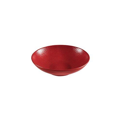 Service vaisselle Stone rouge, Médard de Noblat (Assiette creuse)
