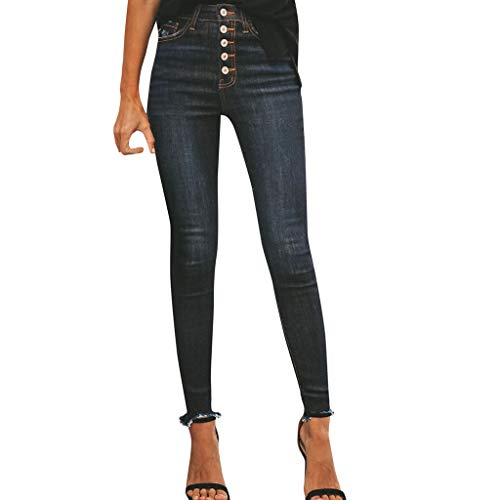 Fenverk Damen Slim Jeans Jasmin Jeggins Jeanshose Skinny Alexa RöHrenjeans Hose Damenjeans Boyfriend Baggy Harems Frauen Mit Hohe Taille Stretch Bleistifthose Leggings (Schwarz 1,XXL) (Jockey-leggings Schwarz)