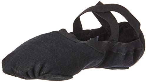 BLOCH Herren Men's Dance Synchrony, gespaltene Sohle, Stretch, Canvas, Ballet-Slipper/Schuh, schwarz, 36.5 EU