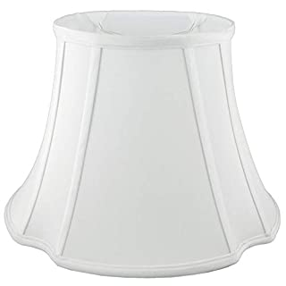 American Pride Lampshade Co. 19-78091513 Oval Soft Tailored Lampshade, Shantung, Off-white