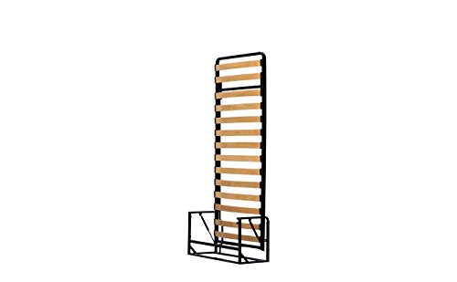 Einzel WANDBETT (Längs) 90cm x 200cm (Klappbett, Schrankbett, Gästebett, Funktionsbett) WALLBEDKING Classic - 2