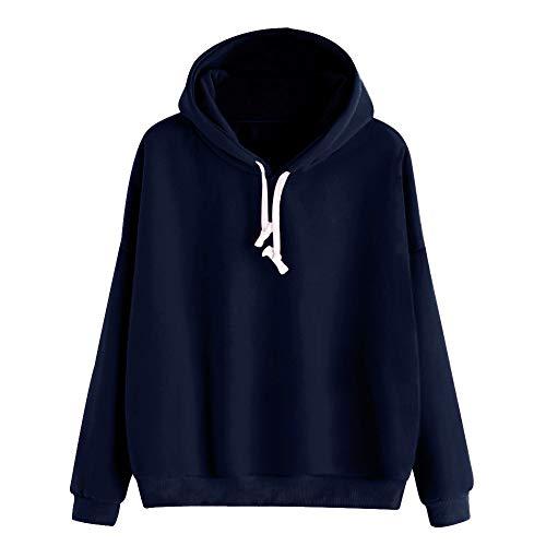 TIFIY Damen Hoodies Sweatshirt, Herbst Solid Pullover Elegante Arbeits Büro Bluse mit Kordelzug...