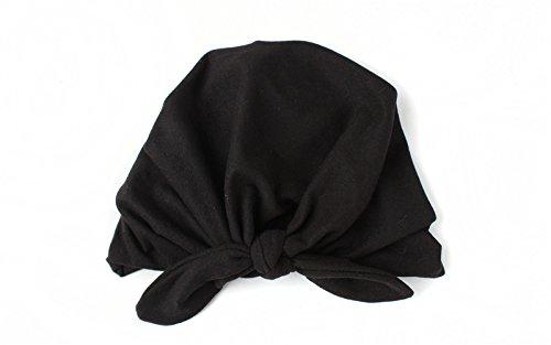 Swallowuk Neugeborenes Baby Weiches Nettes Turban Knoten Hut (schwarz) (Schwarzen Hut Net)