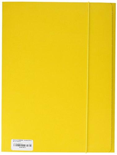 Brefiocart 0208805 - cartella lucida con elastico tondo, 35 x 25 cm, giallo, confezione da 10 pezzi