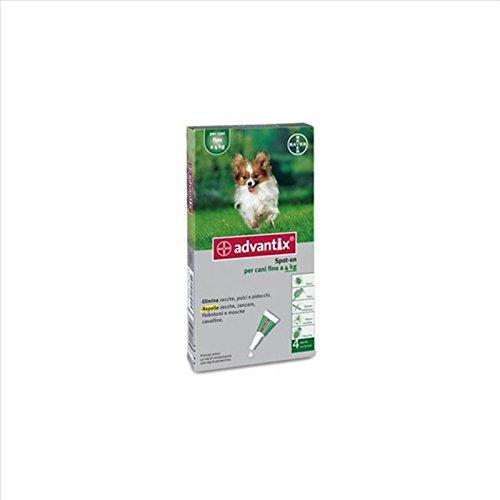 Bayer advantix spot-on antiparassitario per cani fino a 4 kg 4 pipette
