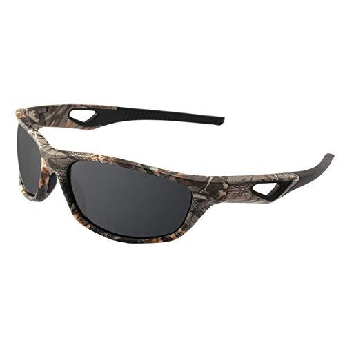 KOMNY Männer Frauen Polarisierte Sonnenbrille Camo Sport Angeln Brillen TR90 Licht Gewicht Sicherer Schutz Brille Oculos De Sol, D