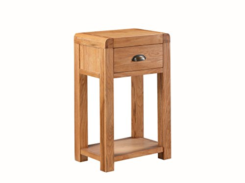 Oakville Solid Oak Telephone Table Solid Oak End Table with 1