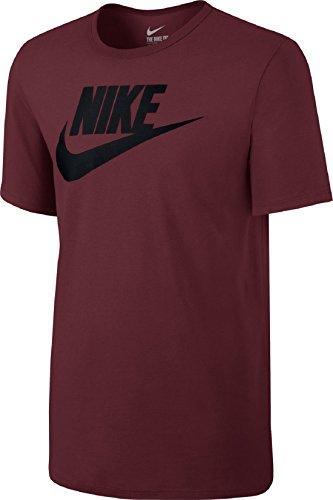 Nike M NSW Icon Futura, T-Shirt Herren Team Red/Nero